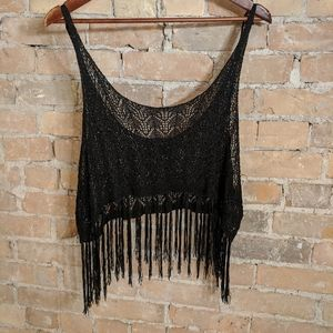 Festival Crochet Fringe Crop Top